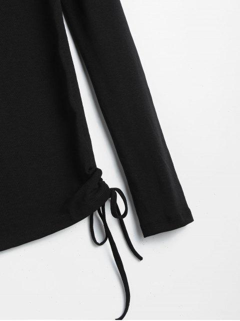 best Long Sleeve Cinched Tee - BLACK M Mobile