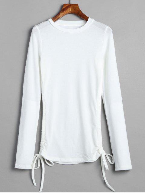 outfit Long Sleeve Cinched Tee - WHITE S Mobile