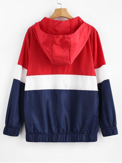 women Tricolor Swishy Windbreaker Track Jacket - MULTI L Mobile