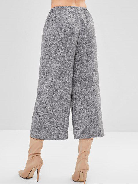 fancy Marl Wide Leg High Waisted Pants - GRAY ONE SIZE Mobile