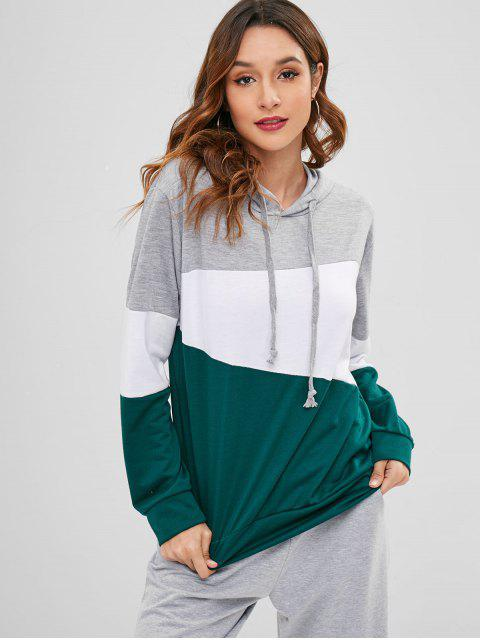 outfit Cotton Color Block Hoodie - MULTI 2XL Mobile