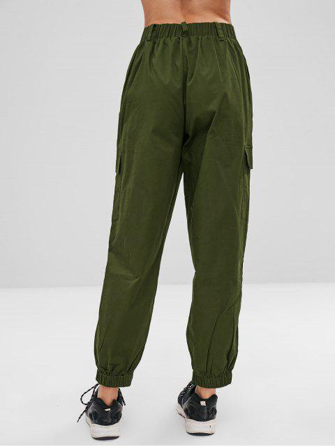 unique Stripe Patch Pants - ARMY GREEN S Mobile
