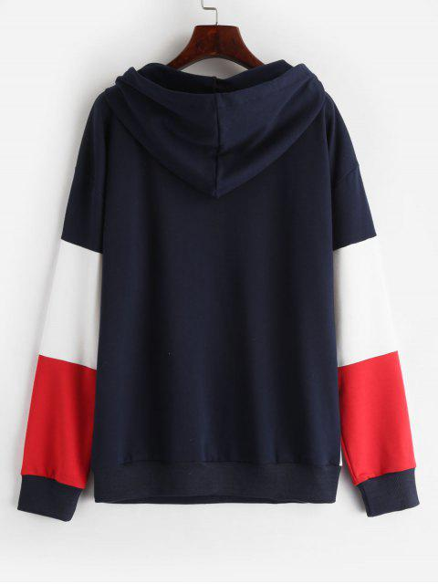 best ZAFUL Drop Shoulder Pouch Pullover Hoodie - MULTI ONE SIZE Mobile
