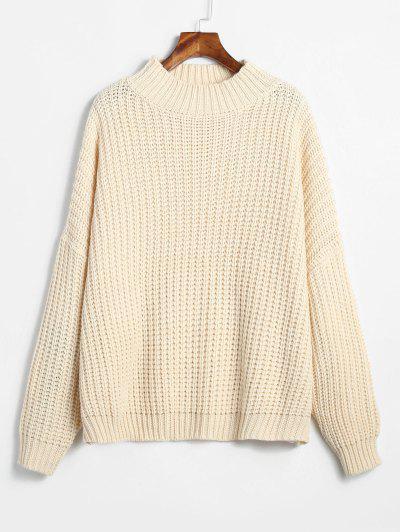 1785851456d ZAFUL Chunky Oversized Sweater - Warm White ...