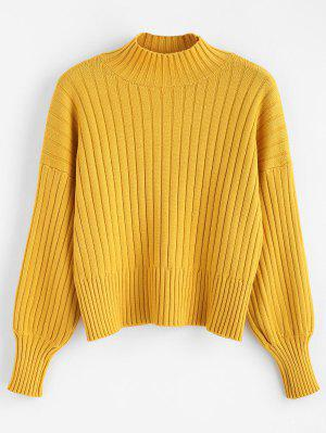 Fallengelassener Shoulder Mock Neck Sweater