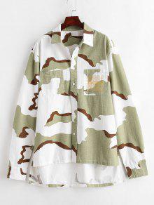 قميص عالي التمويه - ثلاثة الرمال التمويه M