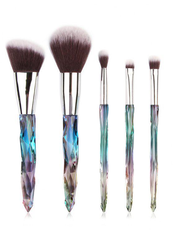 Ensemble de Pinceaux de Maquillage de Voyage Ultra Doux Pour Blush Poudre et Fard à Paupières 5 Pièces - #001