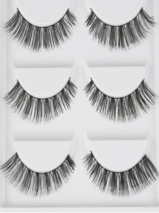 2019 Cosmetic 5 Pairs Volumizing Handmade Natural False Eyelashes