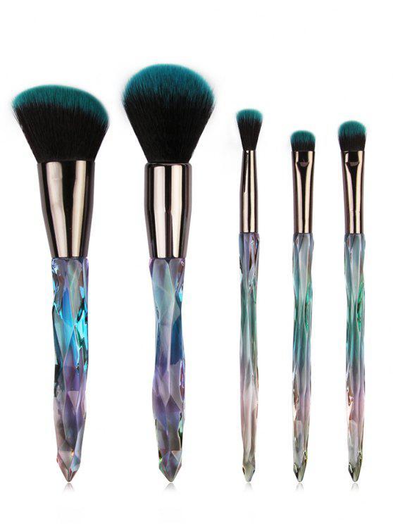 fashion 5 Pcs Ultra Soft  Eyeshadow Blush Powder Travel Makeup Brush Set - #003