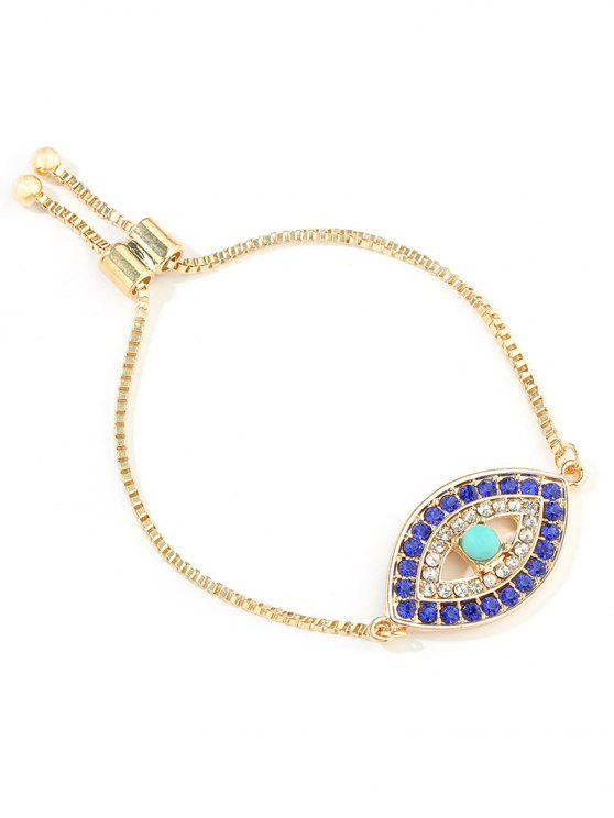 unique Eye Decor Adjustable Chain Bracelet - GOLD