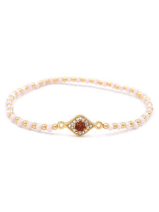 buy Beaded Artificial Crystal Single Eye Bracelet - GOLD