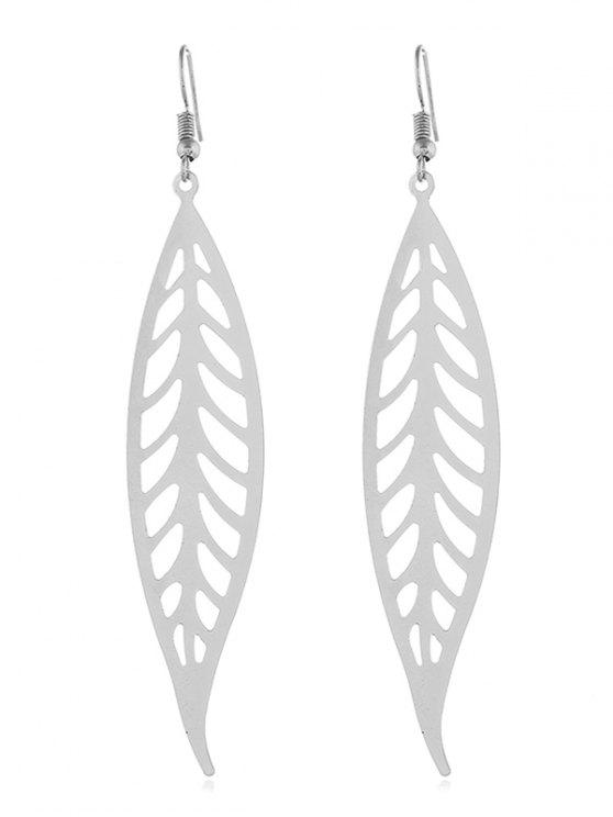 9138912b4 28% OFF] 2019 Artificial Feather Shape Solid Earrings In SILVER | ZAFUL