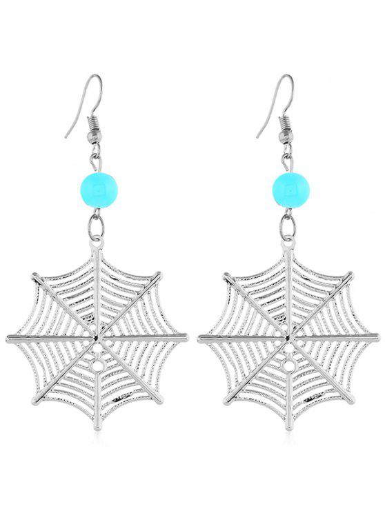 outfits Spider Web Shape Pendant Earrings - SILVER