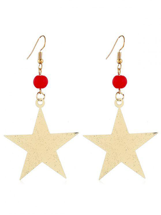 chic Alloy Star Shape Hook Earrings - GOLD