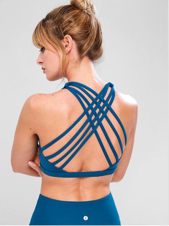 ZAFUL Strappy Exercise Bra - Azul pavão S