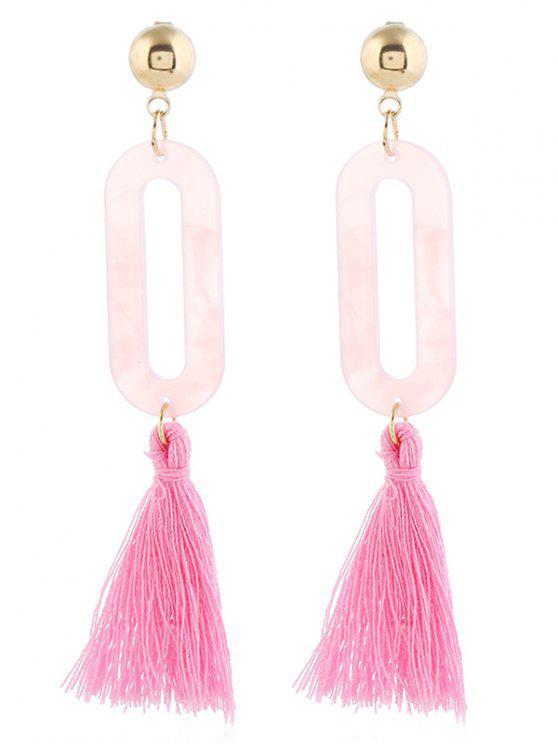 299339f99547 2019 Borla Ahueca Hacia Fuera El Diseño Pendientes De Gota en Rosa Claro