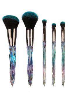 5 Pcs Ultra Soft  Eyeshadow Blush Powder Travel Makeup Brush Set - #003