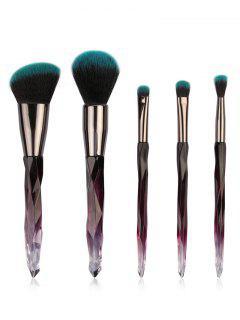 Ensemble De Pinceaux De Maquillage De Voyage Ultra Doux Pour Blush Poudre Et Fard à Paupières 5 Pièces - #004