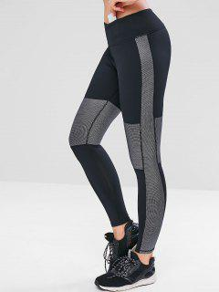 Graphic Hidden Pocket Workout Leggings - Black S