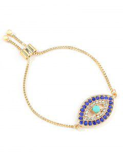 Eye Decor Adjustable Chain Bracelet - Gold