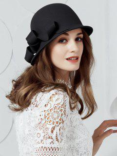 Irregular Wave Wool Bucket Hat - Black