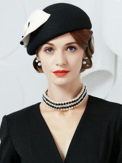 British Style Cocktail Tea Party Hat - Black