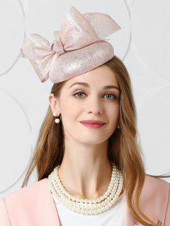 Vintage Large Bowknot Tea Party Hat - Light Pink