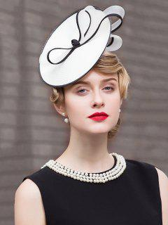 British Style Knot Tea Party Hat - White