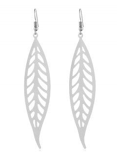 Artificial Feather Shape Solid Earrings - Silver