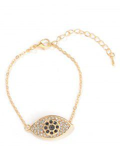 Eye Design Rhinestone Bracelet - Gold