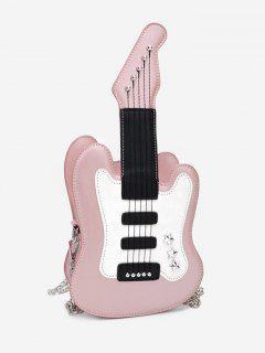 Guitar Shape Mini Crossbody Bag - Pink