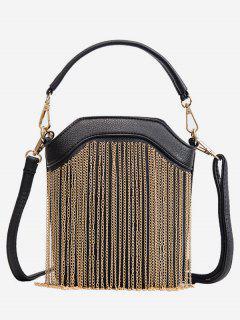 PU Layered Link Chain Design Tote Bag - Gold