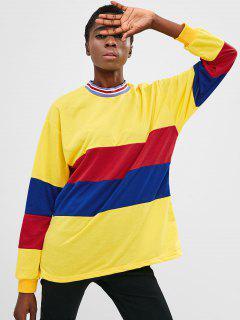 Color Block Tunic Sweatshirt - Multi Xl