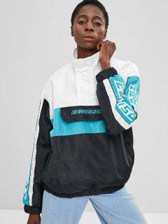 Tunika Color Block Pullover Jacke - Multi L