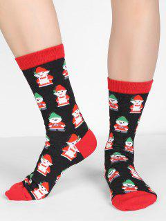 Christmas Snowman Crew Socks - Multi