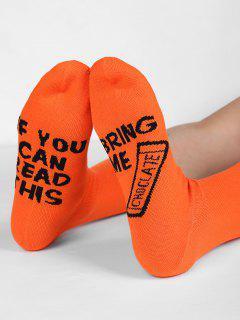 Bring Me Printing Halloween Socks - Pumpkin Orange