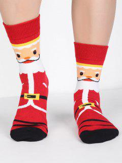 Santa Claus Winter Crew Socks - Red
