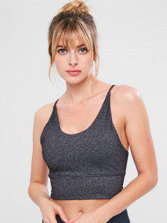 Marled Gym Sport Bra - Dark Gray S