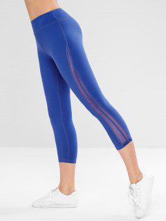 Capri Sport Gym Leggings - Blue L