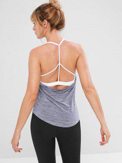 Sport Athletic Padded Tank Top - Gray M