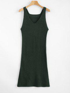 Knit Tank Dress - Deep Green