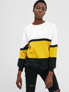 Farbblock Pullover Übergroßes Sweatshirt - Multi
