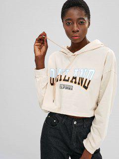 Übergroßer Pullover Mit Grafischem Muster Und Kurzem Schnitt - Warmweiß M