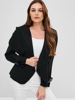 Draped Fleece Jacket - Black Xl