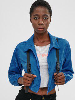 Leichte Jacke Mit Schnallenverschluss - Blau Xl