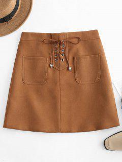 Patch-Tasche Schnüren Sich Mini-Rock - Tiger Orange Xs