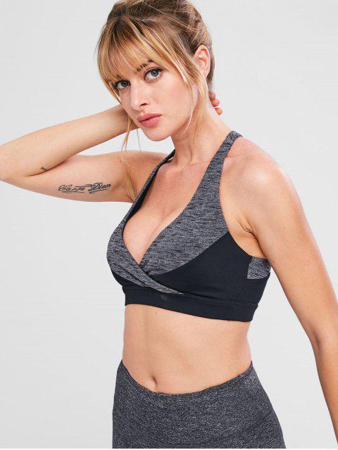 Heather Criss Cross Trainings-BH - Dunkelgrau S Mobile