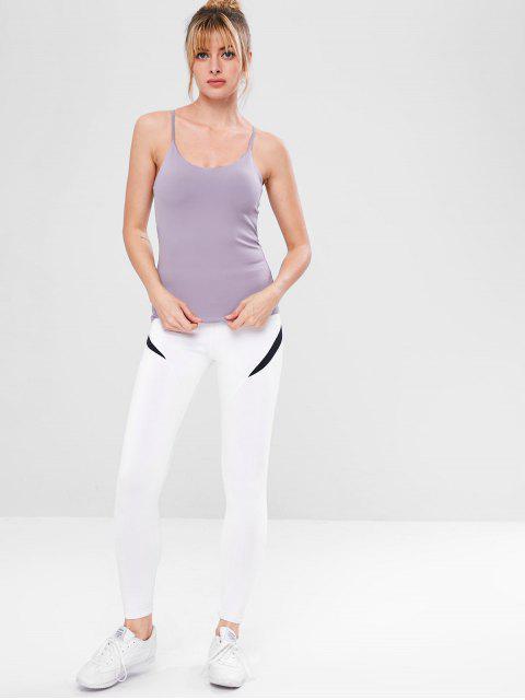 Haut à Bretelle de Gymnastique Croisé à Lacets - Lilas S Mobile