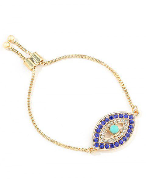 unique Eye Decor Adjustable Chain Bracelet - GOLD  Mobile