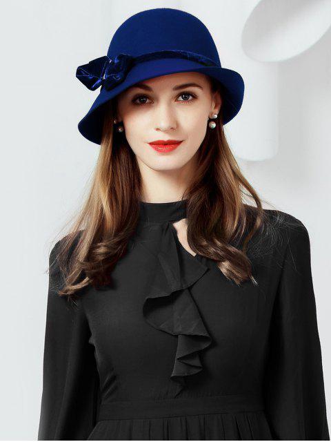 Chapeau de Cloche en Laine avec Nœud Papillon - Bleu profond  Mobile